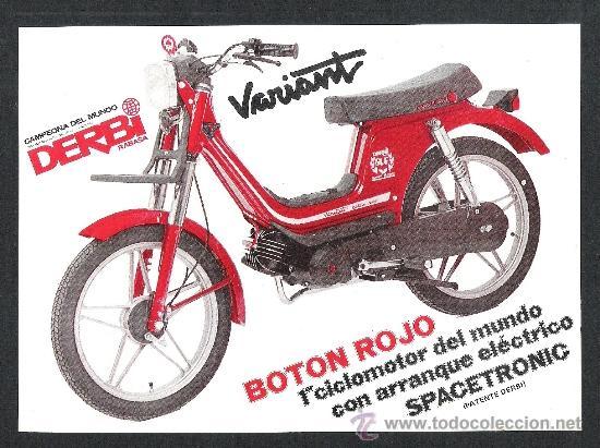 Hoja publicidad propaganda original derbi varia comprar for Catalogo derbi