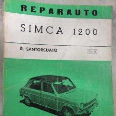 Coches y Motocicletas: LIBRO TALLER REPARAUTO NUMERO 51 52 SIMCA 1200 ATIKA. Lote 71432598