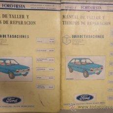 Coches y Motocicletas: MANUAL TALLER Y TIEMPOS REPARACION AUTOMOVIL FORD FIESTA FEBRERO 1985 2 TOMOS. Lote 114460356