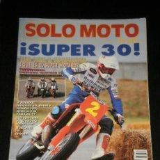 Coches y Motocicletas: SOLO MOTO 30 - Nº 81 - NOV 1989 - MOTOS MILITARES / DERBI GP 80 / JJ COBAS 125 / HONDA GP 250 . Lote 37985386