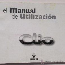 Coches y Motocicletas: RENAULT CLIO - 1998 - TODA LA GAMA - MANUAL INSTRUCCIONES USUARIO, TEXTO EN ESPAÑOL.. Lote 38037542