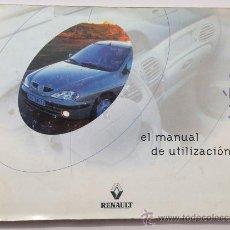 Coches y Motocicletas: RENAULT MÉGANE - 2000 - TODA LA GAMA - MANUAL INSTRUCCIONES USUARIO, TEXTO EN ESPAÑOL.. Lote 182077302