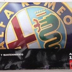 Coches y Motocicletas: ALFA ROMEO 147 - 2000 - TODA LA GAMA - MANUAL INSTRUCCIONES USUARIO, TEXTO EN ESPAÑOL.. Lote 38056882