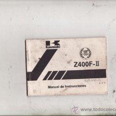 Coches y Motocicletas: MANUAL DE INSTRUCCIONES KAWASAKI Z400 F-II (ORIGINAL). ESPAÑOL.. Lote 133941819