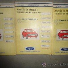 Coches y Motocicletas: MANUAL TALLER Y TIEMPOS REPARACION AUTOMOVIL FORD ESCORT ABRIL 1982 4 TOMOS. Lote 47498266