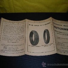 Coches y Motocicletas - CATALOGO - NEUMATICOS - HUTCHINNSON 10 ENERO 1926 ,TRIPTICO 8 PAG. 15X11 CM. - 38332127