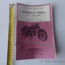 Coches y Motocicletas: MANUAL ROYAL BULLET 350 INDIA. Lote 38390505
