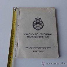 Coches y Motocicletas: MOTO SPORT CALENDARIO DEPORTIVO MOTOCICLISTA DE 1976.. Lote 38390513