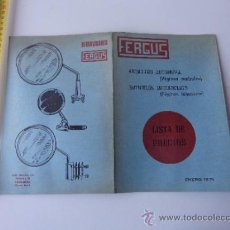 Coches y Motocicletas: TRIPTICO ARTICULOS AUTOMOVIL FERGUS, ENERO 1971. Lote 38395192