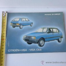 Coches y Motocicletas: MANUAL CITROEN VISA CLUB. Lote 39504554