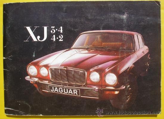 MANUAL JAGUAR XJ - MODELOS 3.4 Y 4.2 CON ESQUEMA DE CABLEADO - 1975 - TEXTO EN FRANCÉS (Coches y Motocicletas Antiguas y Clásicas - Catálogos, Publicidad y Libros de mecánica)