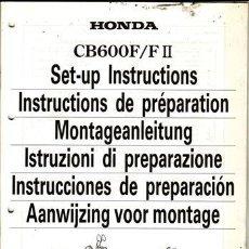 Coches y Motocicletas: INSTRUCCIONES DE PREPARACIÓN HONDA CB 600 F/FII AÑO 2000 (ORIGINAL) VARIOS IDIOMAS 51 PÁGINAS. . Lote 38559829