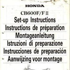 Coches y Motocicletas: INSTRUCCIONES DE PREPARACIÓN HONDA CB 600 F/FII AÑO 2000 (ORIGINAL) VARIOS IDIOMAS 51 PÁGINAS. . Lote 38559845