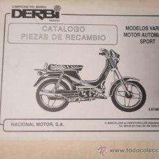 CATALOGO DESPIECE ORIGINAL MOTOCICLETA DERBI MODELO VARIANT SPORT 1989