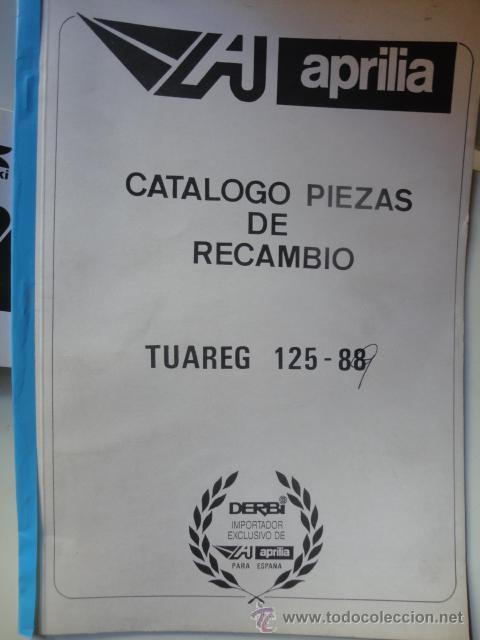 CATALOGO DESPIEDE ORIGINAL MOTOCICLETA APRILIA MODELO TUAREG 125 88 1989 (Coches y Motocicletas Antiguas y Clásicas - Catálogos, Publicidad y Libros de mecánica)