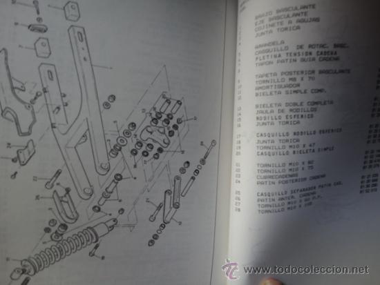 Coches y Motocicletas: CATALOGO DESPIEDE ORIGINAL MOTOCICLETA APRILIA MODELO TUAREG 125 88 1989 - Foto 2 - 38968252