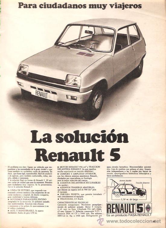 Resultado de imagen de anuncio antiguo renault 5
