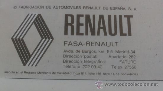 Coches y Motocicletas: manual conduccion y entretenimiento renault 5 tl 1ª edicion española - Foto 2 - 39161553