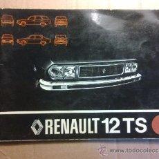 Coches y Motocicletas: MANUAL DE INSTRUCCION DEL RENAULT 12 TS. Lote 53143975