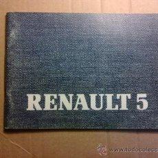 Coches y Motocicletas: MANUAL DE INSTRUCCION DE RENAULT 5. Lote 39263233