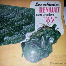 Coches y Motocicletas: CATLOGO DE RENAULT ANTIGUO. Lote 39600758