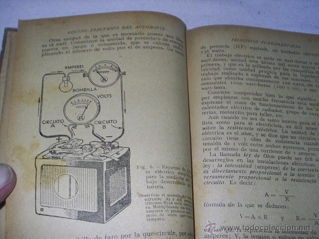 Coches y Motocicletas: ANTIGUO LIBRO - EQUIPO ELECTRICO DEL AUTOMOVIL - MANUAL PRACTICO ILUSTRADO - 1939 -102 GRABADOS - Foto 4 - 39668583