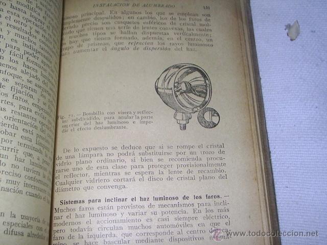 Coches y Motocicletas: ANTIGUO LIBRO - EQUIPO ELECTRICO DEL AUTOMOVIL - MANUAL PRACTICO ILUSTRADO - 1939 -102 GRABADOS - Foto 5 - 39668583