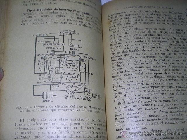 Coches y Motocicletas: ANTIGUO LIBRO - EQUIPO ELECTRICO DEL AUTOMOVIL - MANUAL PRACTICO ILUSTRADO - 1939 -102 GRABADOS - Foto 6 - 39668583