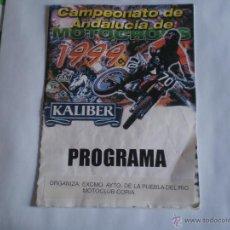 Coches y Motocicletas: ANTIGUO PROGRAMA CAMPEONATO DE ANDALUCIA DE MOTOCROS,1999.PUEBLA DEL RIO.MOTOCLUB CORIA.. Lote 39758465