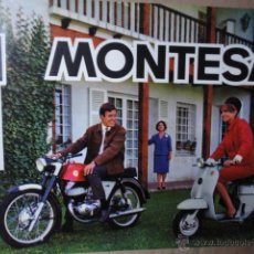 Coches y Motocicletas: LAMINA ORIGINAL TECNICA MOTOCICLETA MONTESA IMPALA 1964. Lote 39898401