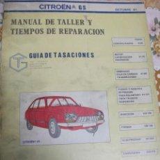 Coches y Motocicletas: CITROEN GS MANUAL DE TALLER Y TIEMPOS DE REPARACION 251 PAGINAS.. Lote 39945424