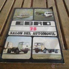Coches y Motocicletas: CATALOGO REVISTA EBRO 75 SALON DEL AUTOMOVIL. Lote 39945877
