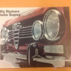 Coches y Motocicletas: ALFA ROMEO GIULIA SUPER CATALOGO ORIGINAL FRANCES. Lote 39981153