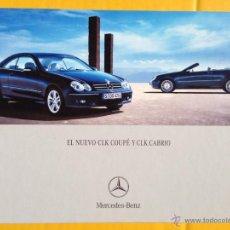 Coches y Motocicletas: CATÁLOGO MERCEDES CLASE CLK COUPÉ Y CLK CABRIO - 2005. Lote 40026320