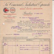 Coches y Motocicletas: LA COMERCIAL INDUSTRIAL ESPAÑOLA ACEITES Y ACEITES LUBRIFICANTES HISPANIA,RIBESOIL CAPEL Y MOTAUTO. Lote 40028856