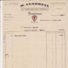 Coches y Motocicletas: M.VENDRELL DISTRIBUIDOR EXCLUSIVO DE LOS PRODUCTOS DE LA FIRESTONE TIRE & RUBBER Cº. Lote 40029293