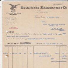 Coches y Motocicletas: LUBRIFICANTES MARCA AIGLON ,BUSQUETS HERMANOS Y Cº BARCELONA 1928. Lote 40030420