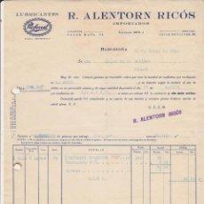 Coches y Motocicletas: LUBRIFICANTES PERFECOIL R.ALENTORN RICOS BARCELONA 1928. Lote 40030499