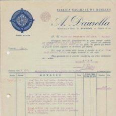 Coches y Motocicletas: DAUCO SUSPENSIONES FABRICA NACIONAL DE MUELLES BARCELONA 1928 A.DAURELLA. Lote 40031265