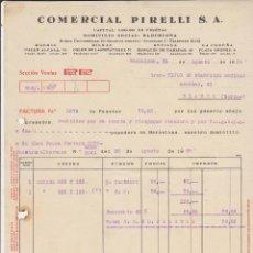 Coches y Motocicletas: COMERCIAL PIRELLI BARCELONA 1929. Lote 40031440