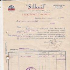 Coches y Motocicletas: SILKOIL LUBRIFICANTES DE PENSILVANIA U.S.A ROCH,TORTA Y VIVANCOS. Lote 40032118