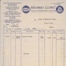 Coches y Motocicletas: COJINETES TIMKEN,HYATT,NEW DEPARTURE Y NICE EDUARDO LLORET,BARCELONA 1929. Lote 40032527