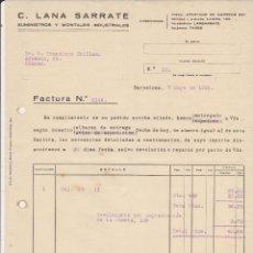 Coches y Motocicletas: C.LANA SARRATE SUMINISTROS Y MONTAJES INDUSTRIALES.BARCELONA 1929. Lote 40034626