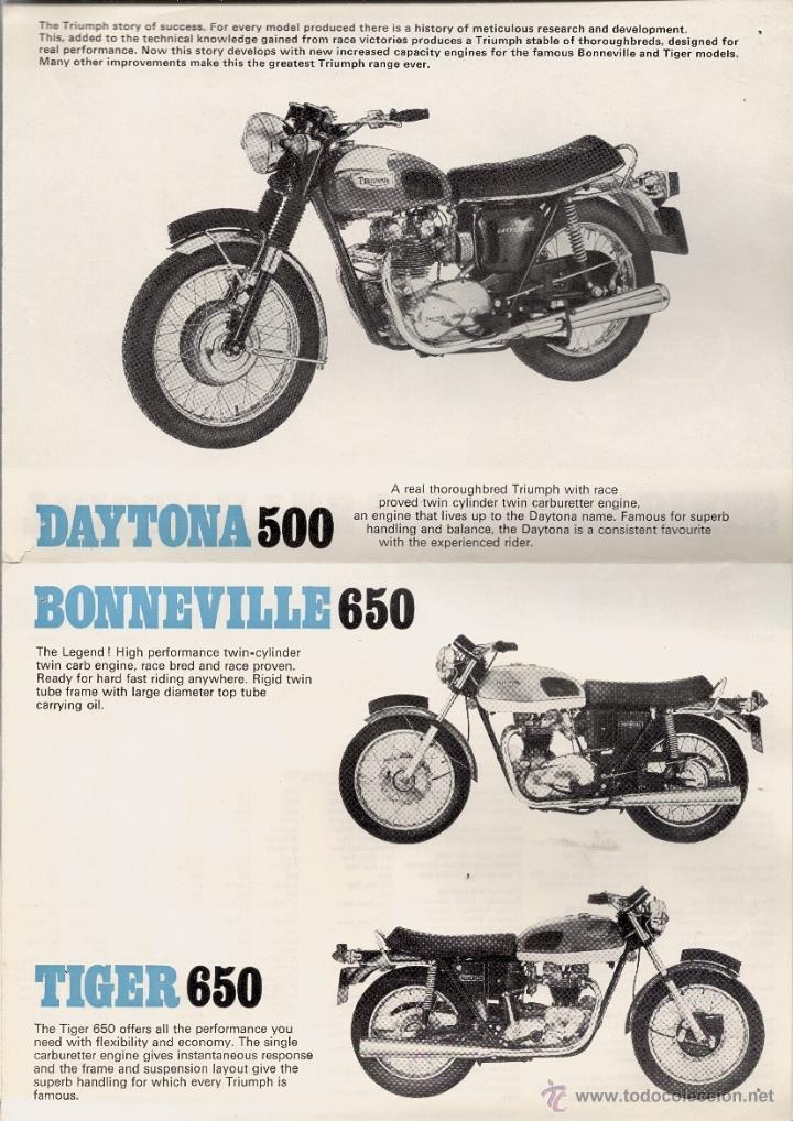 Moto Triumph Bonneville 650 Tiger 650 Y Daytona Sold Through