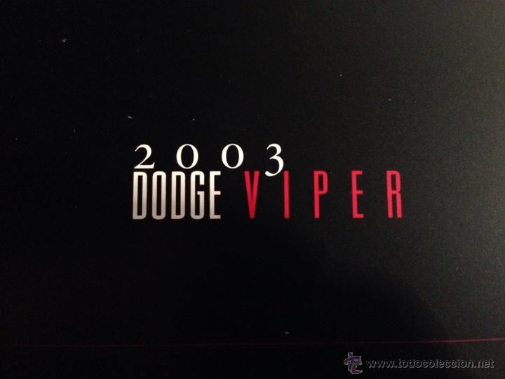 Coches y Motocicletas: DODGE VIPER 2003 - DOSSIER DE PRENSA - TEXTO EN INGLÉS - Foto 2 - 40260425