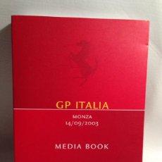 Coches y Motocicletas: SCUDERIA FERRARI MARLBORO MEDIA BOOK 2003 - GP ITALIA MONZA 14/09/2003 - TEXTO EN ITALIANO E INGLÉS. Lote 40279566