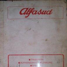 Coches y Motocicletas: ALFA ROMEO - ALFASUD 'MOTOR. SUSPENSIONES. DIRECCION. FRENOS' (IDIOMA ALEMÁN). Lote 40564159