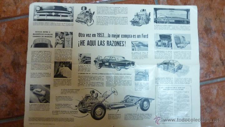 Coches y Motocicletas: Precioso folleto catalogo publicidad coche FORD 1953. 50 ANIVERSARIO . 50 / 38 CM DESPLEGADO - Foto 2 - 40867222
