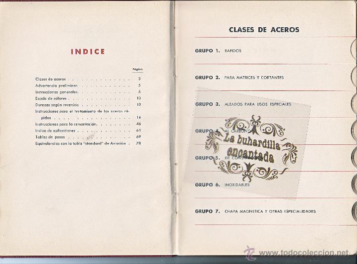 Coches y Motocicletas: MANUAL ACEROS ESPECIALES BELLOTA AÑO 1945 - 78 PAGINAS - VER INTERIOR - Foto 2 - 40948069