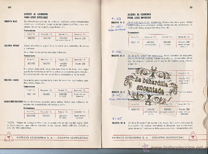 Coches y Motocicletas: MANUAL ACEROS ESPECIALES BELLOTA AÑO 1945 - 78 PAGINAS - VER INTERIOR - Foto 3 - 40948069